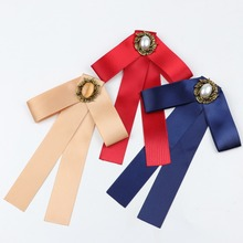 Brooch Ribbon Collar-Pin Cravat Bow-Tie Butterfly Girls Vintage Head Chic Costume Jewelry
