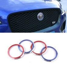 Emblema de logotipo do centro de grelha da frente, de carro, anel decorativo, adesivos de jaguar xe x760 F-PACE x761 xf x260 xj xjl x351 capa da guarnição do emblema