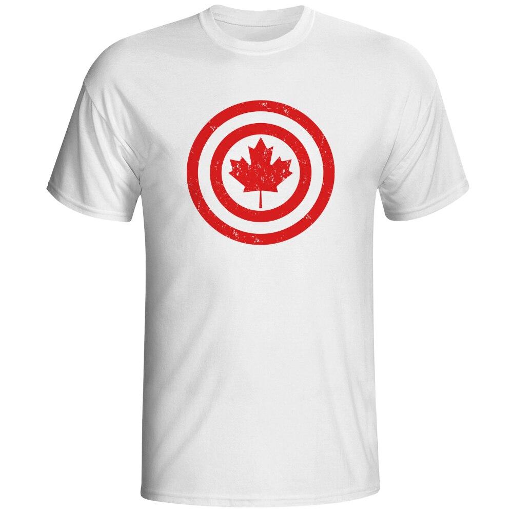 Shirt design canada - Captain Canada Shield T Shirt Parody Super Hero Comic Design Creative T Shirt Fashion Novelty Style Tee Cool Men Women Tshirt