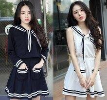 New Japanese Naval Academy Wind JK Uniform School Female Students Wear COS Sailor Suit