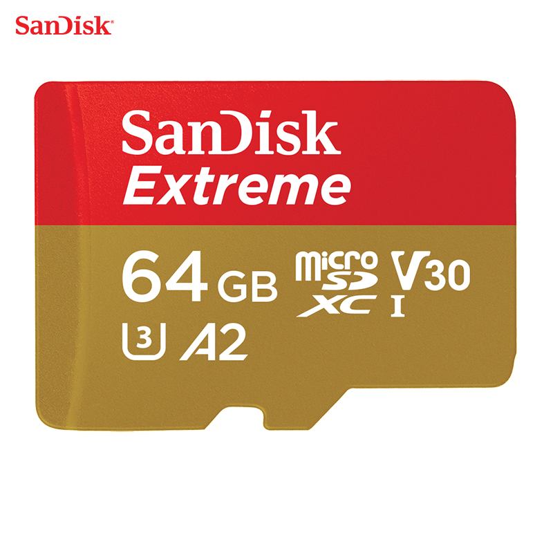 Sandisk 100% Original 64GB TF Micro SD Memory Card U3 C10 A2 V30 4K Extreme Speed Mobile Edition Read 160MB/S Write Speed 60MB/S