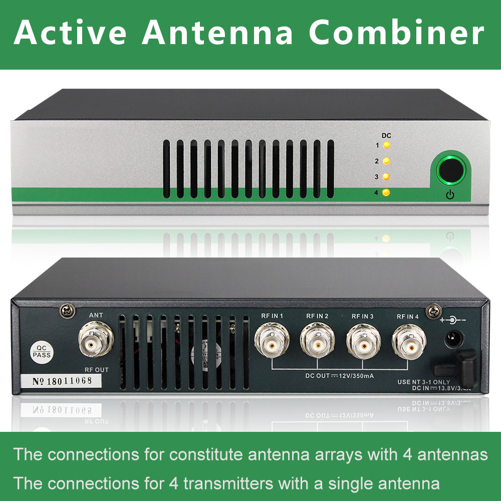 AC3 AC8 Active Antenna Combiner Kit UHF 470-900MHZ Antenna Combiners Splitter For For In-Ear Monitoring System Transmitters