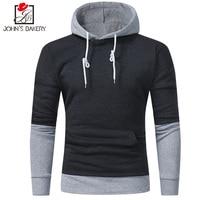 2017 Men S Sweatshirt Hoodies Hip Hop Hoodies Male Brand Hoodies Solid Color Stitching Men Slim