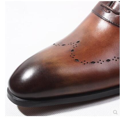 Dentelle 3 Bullock Main La Hommes Chaussure Robe 2 Business Noir 1 En brun Britannique Up À 6 Cuir Chaussures Italien Oxford 5 4 q0SnHw