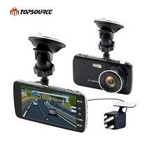 TOPSOURCE 4″ Car Dvr Camera Dual Lens HD 1080P JL5201AMelis rear view camera Automobile DVRs Video Recorder Registrator dashcam