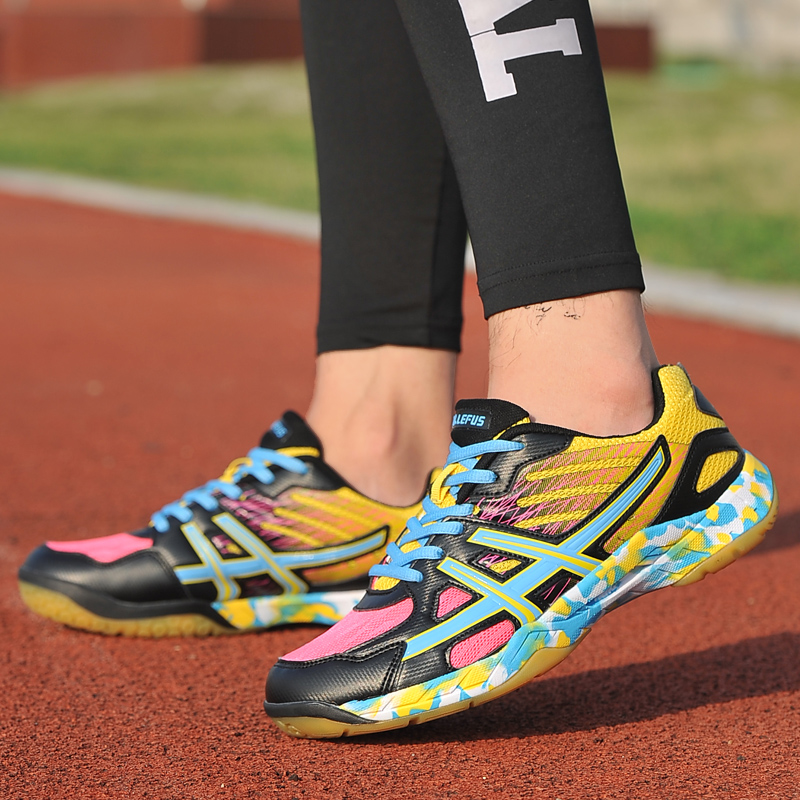 2019 hommes baskets hommes Badminton chaussures noir clair respirant femme Sports de plein air formation femmes athlétisme Sports rose