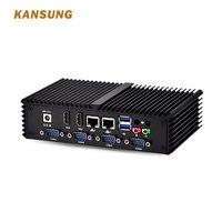 X86 Micro компьютер 6 Com 2 Lan мини ПК с Intel Core i7 4500U, он может действовать как цифровые телевизоры, банкоматы, POS Systerm IPC