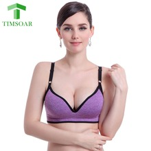 Timsoar Women Sexy Seamless Sports Bra Deep V Push Up Bras Sports Bras with Padding Underwear for Woman Adjustable Straps S/M/L