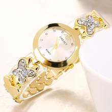 цена на Female Ladies Watch Luxury Quartz Bracelet Wristwatches Women Clock Crystal Rhinestone Watches Relojes Mujer Montre Femme