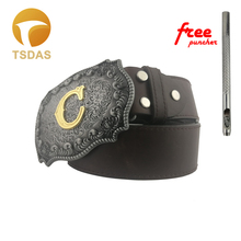 11 Different Style Mens Initial Letter Fashion Belt Buckle Head For 4cm Width