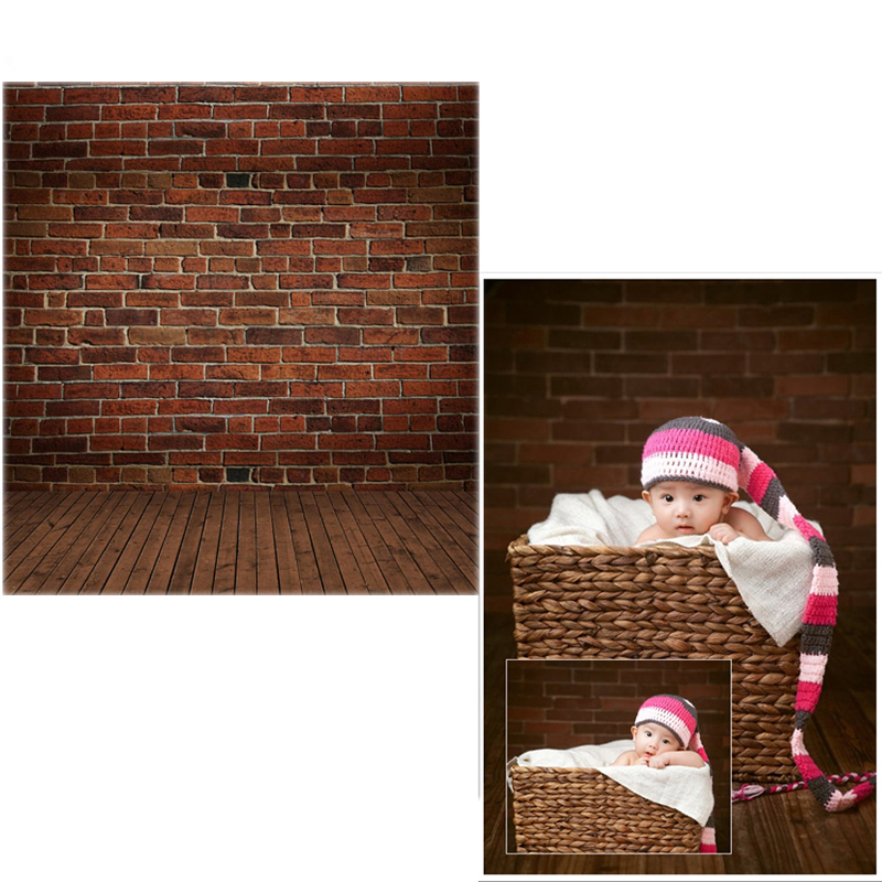 MEHOFOTO Vinyl Photo Backdrops Brick Wall New Fabric Flannel Photography Background Brown Floor For Children photo studio CM6738 wooden floor and brick wall photography backdrops computer printing thin vinyl background for photo studio s 1120