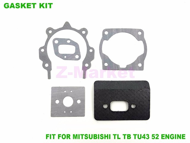 3sets gasket for mitsubishi tl43 52 tb43 52 tu43 52 brush cutter rh aliexpress com Mitsubishi 260 Brush Cutter Chainsaw Brush Cutter Attachment