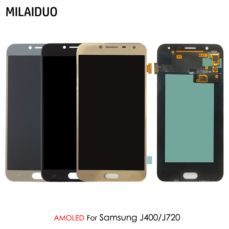 AMOLED OLED Pour Samsung Galaxy J4 J400 J720 J400F SM-J400F J7 Duo 2018 J720F J720M LCD Affichage Écran Tactile Digitizer l'assemblée
