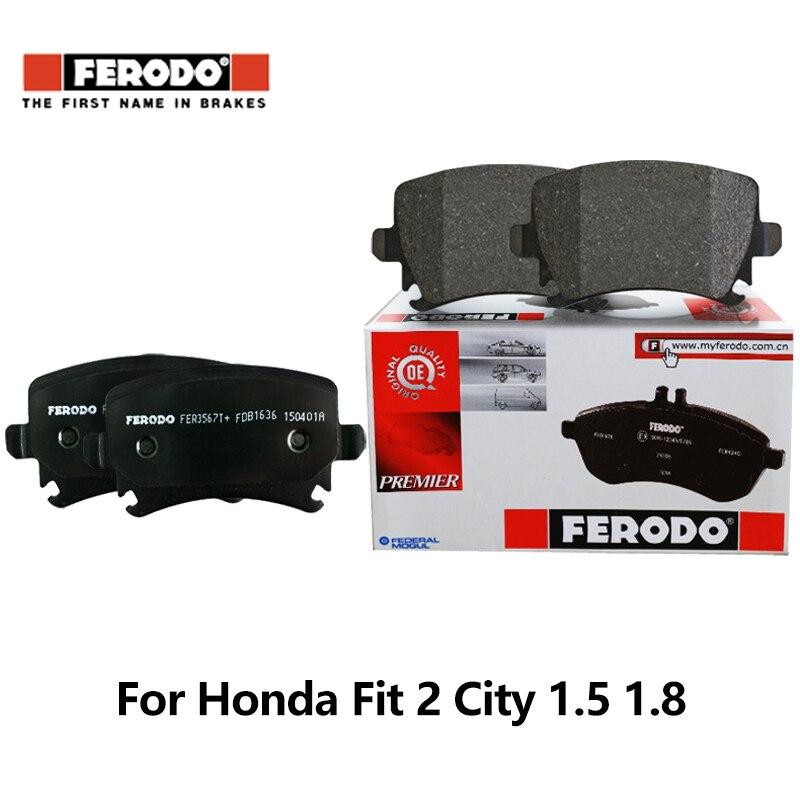 4pieces/set Front Ferodo Car Brake Pads for Honda Fit 2 City 1.5 1.8 FDB4272-D auto part