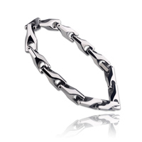 Sliver Color 8mm Width Men Classic Heavy Hi-tech Scratch Proof Tungsten Chain Bracelet For Men's Gift