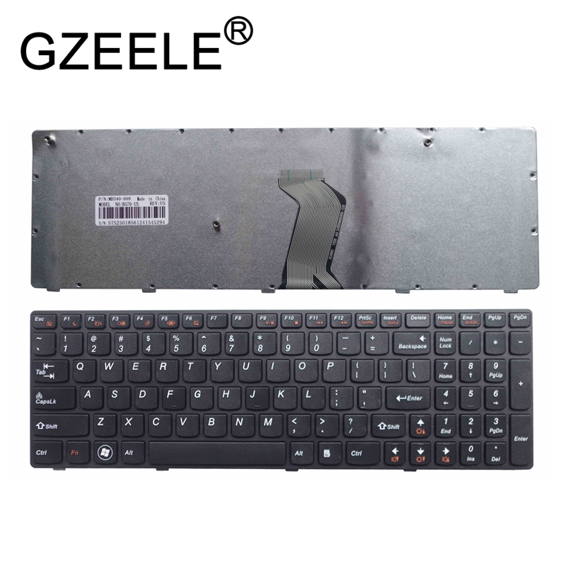 GZEELE New Laptop Keyboard For LENOVO V570 V575 Z570 Z575 B570 B570E V580 V580C B570G B575 B575E B590 B590A US Black English