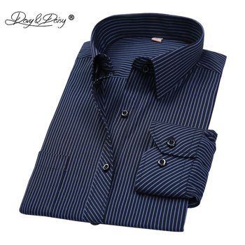 DAVYDAISY - Long Sleeved Striped, Solid, or Plaid Business Shirt
