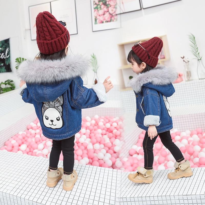 2050025e01e maomaoleyenda Girls Jean Jacket Winter Fashion Kids Coat Girl Clothes Lamb  Wool Cowboy Cotton Denim Outerwear Children Clothing