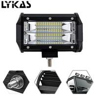 5INCH 72W Car Styling Two Rows Led Light Bar Modified Off Road Lights Roof Light Bar