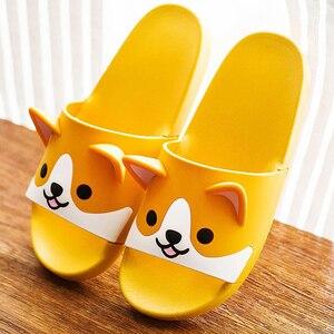 Image 4 - Women Girls Slide Sandals Cartoon Dog Cat Summer Animal Beach Slippers Platform Slides Shoes Ladies Soft Sole Flip Flops