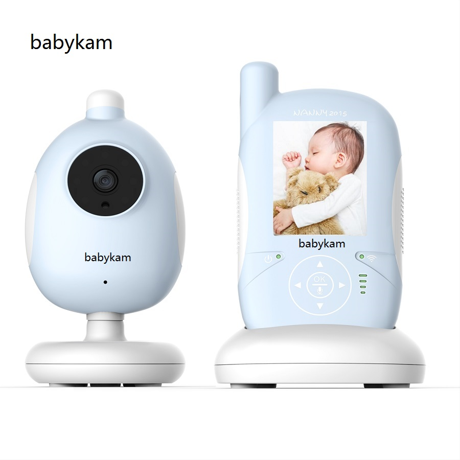 Babykam RADIO NURSE Nanny 2.4 inch LCD IR Night vision Lullabies Temperature Monitor Intercom Feeding Alarm video baby monitor