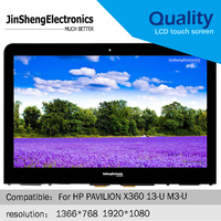 100% tested Original Full New 13.3 For HP PAVILION X360 13 U M3 U LCD Display + Touch Screen Assembly 1366x768 1920x1080