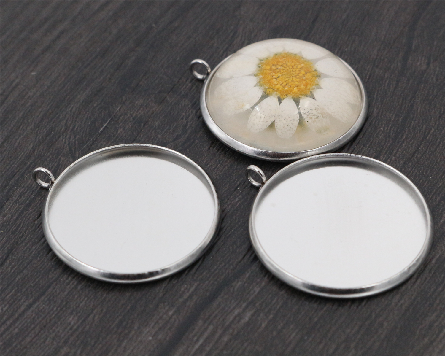 ( No Fade ) 10pcs 25mm Inner Size Stainless Steel Material Simple Style Cabochon Base Cameo Setting Charms Pendant Tray-D4-52( No Fade ) 10pcs 25mm Inner Size Stainless Steel Material Simple Style Cabochon Base Cameo Setting Charms Pendant Tray-D4-52