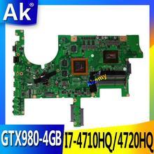 AK ROG G751JT Tested original mainboard I7-4710HQ/4720HQ SR18J GTX980-4GB motherboard for ASUS G751JY G751JT G751JL G751J G751