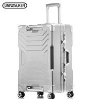 UNIWALKER 20 24 29 Aluminum Frame PC Rolling Luggage Hardside Travel Trolley Suitcase Case Cabin Suitcases Lift Handle