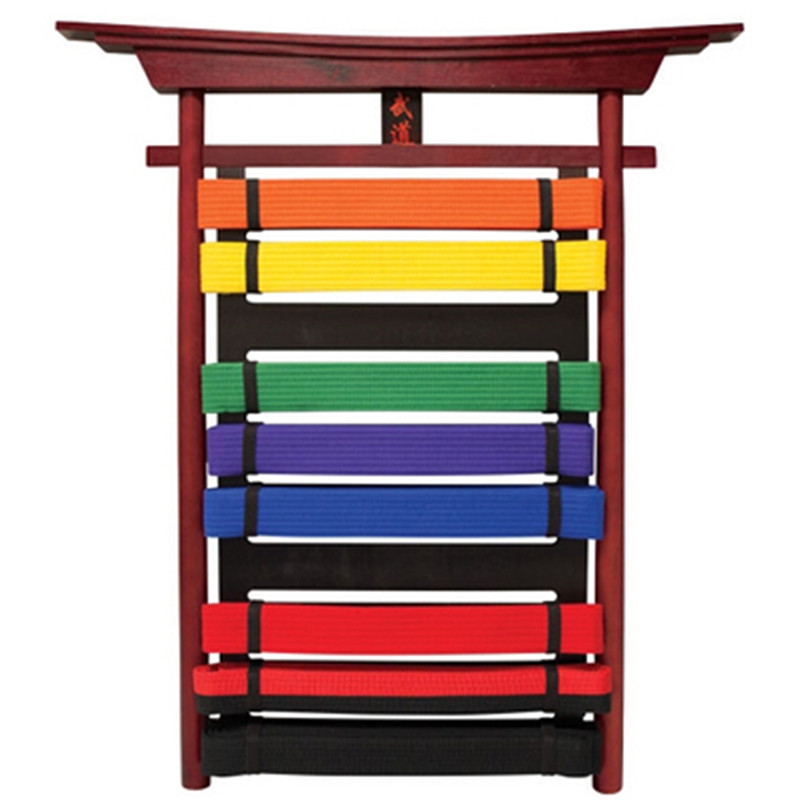 New Taekwondo belt Display Stand 10 level Karate MMA Martial Arts Belt Display Belt shelf-10 Belts TKD GYM pendent Promotion new mma gloves grappling martial arts leather genuine cowhide punching bag mitts sparring cage fighting combat training