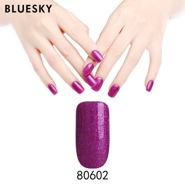 US $9.99 |Bluesky Gel Nail Polish 10ml Soak Off Gel Lacquer Nail Polish for  Nail Art need UV Lamp 80598 80624-in Nail Gel from Beauty & Health on ...