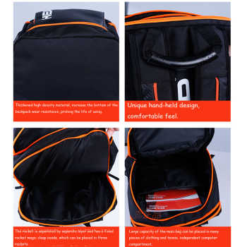 Terylene Original Head Tennis Racket Bag Large Capacity 3 Rackets Tennis Bag Original HEAD Tennis Backpack Tennis Racquets Bag