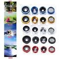 Universal 5 en-1 con clip de 180 grados de ojo de pez + granangular + macro telefoto 2.0x tele lente cpl para iphone 6, envío libre!!