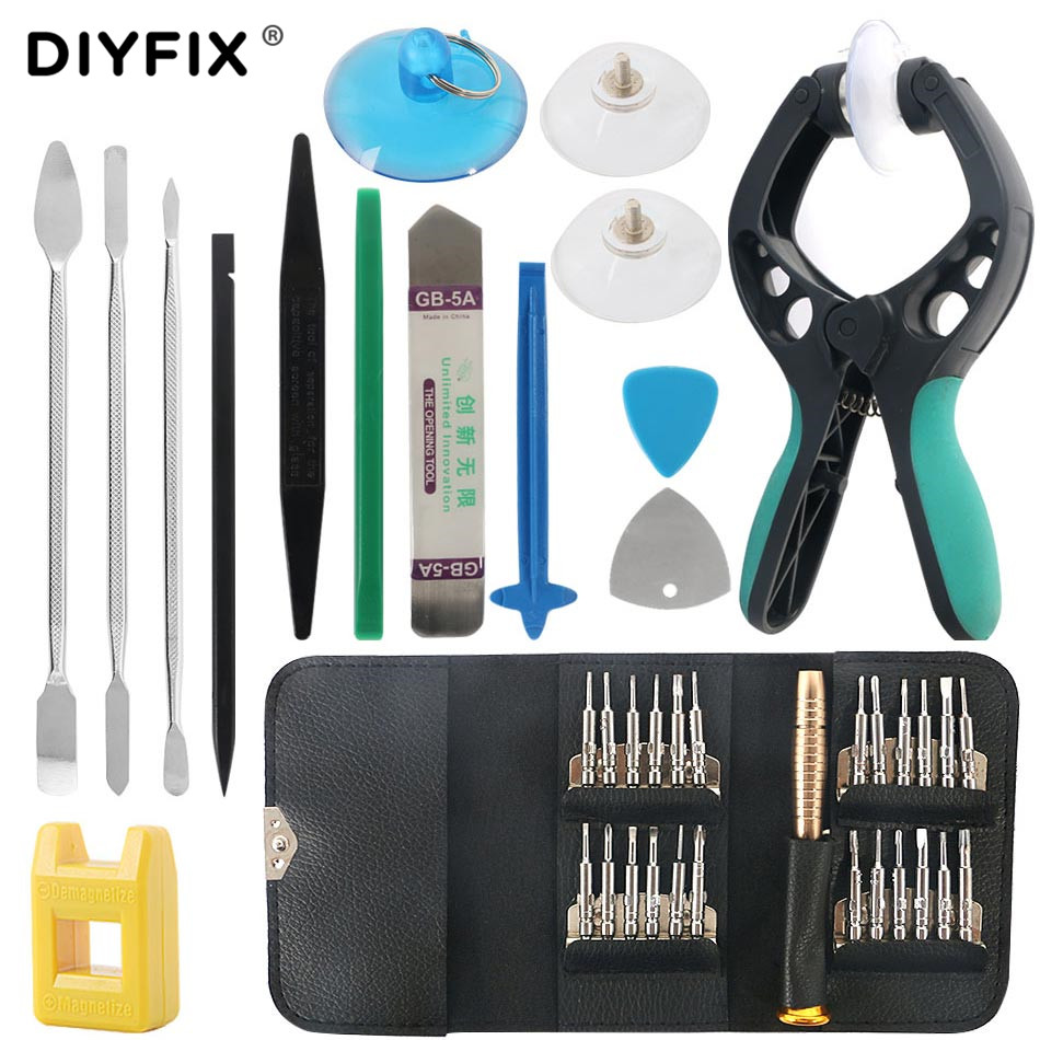 DIYFIX Mobile Phone Repair Tools Opening Screwdriver Set For IPhone MacBook Xiaomi Tablet PC Small Toy Disassemble Hand Tool Kit