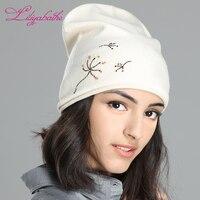 LILIYABAIHE trendy Çoklu renkler yeni bahar stil desen lady şapka gerdirilebilir skullies kadınlar şapka pamuk örme bere kap