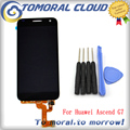 Tomoral para huawei ascend g7 lcd display + touch screen reemplazo de cristal del envío libre