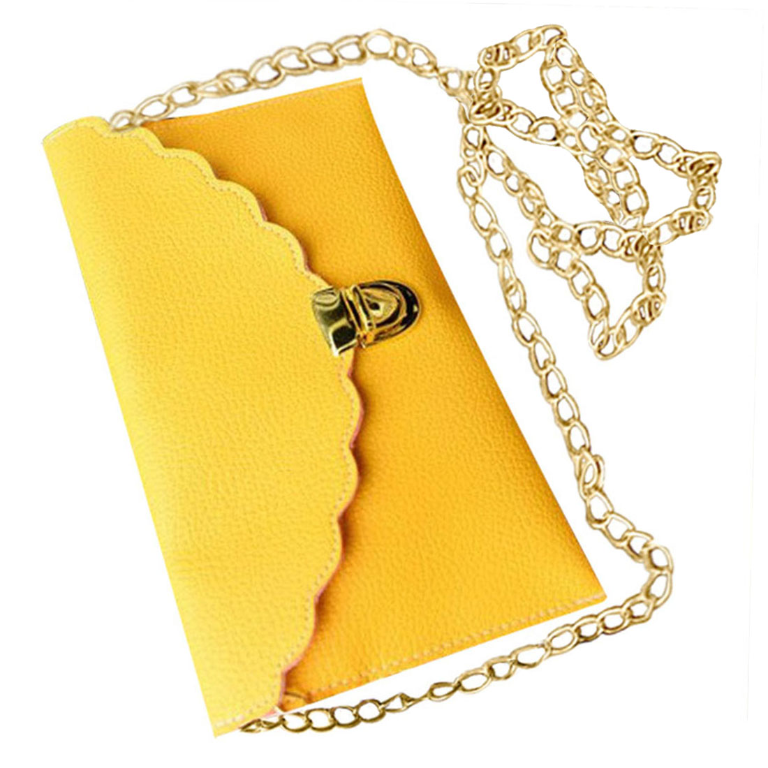 VSEN Hot Ladies Handbag Imitation Leather Shoulder Bag Fashion Wallet Long Metal Chain Lady Handbag vsen hot styleluggage bag replacement plastic 1 side rectangle buckle 10 pcs