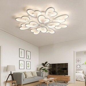 Image 3 - Moderne Led Kroonluchter App Met Afstandsbediening Acryl Lamp Voor Woonkamer Slaapkamer Keuken Thuis Kroonluchter Plafond