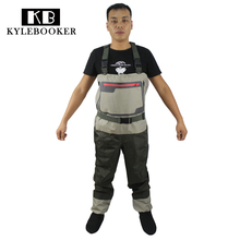 купить New men's Fly Fishing Chest Waders Breathable Waterproof  trousers  Fishing Wader  Hunting wading pants with  Stocking Foot дешево