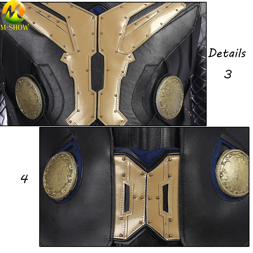 Image 5 - Movie Thor The Dark World Cosplay Costume Superhero Thor Cosplay Halloween Costume Vest Top Cloak Pants Custom Made-in Movie & TV costumes from Novelty & Special Use