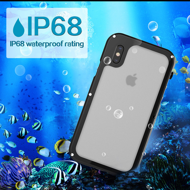 Ascromy For iPhone X Case Shockproof IP68 Waterproof Metal Bumper Cover For Appe iPhone 7 Plus 8 8plus Water Proof Accessories (6)