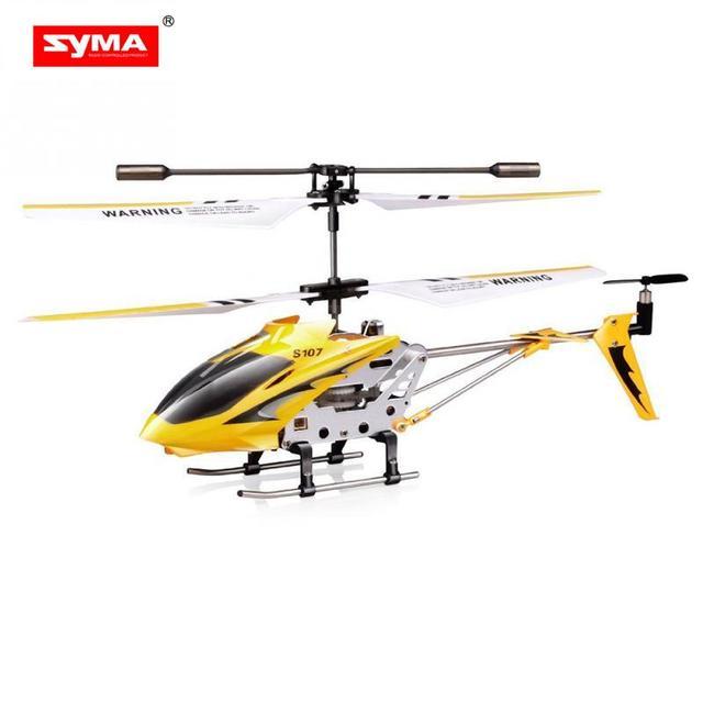 Syma S107g Phantom 35ch Mini Metal Rc Helicopter Gyro Red Rc Toy