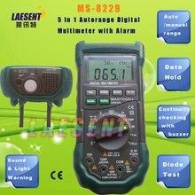 Mastech MS8229 Авто-Диапазон 5-в-1 многофункциональный Цифровой Мультиметр DMM, люкс, Влажность, Уровень Звука, Термометр