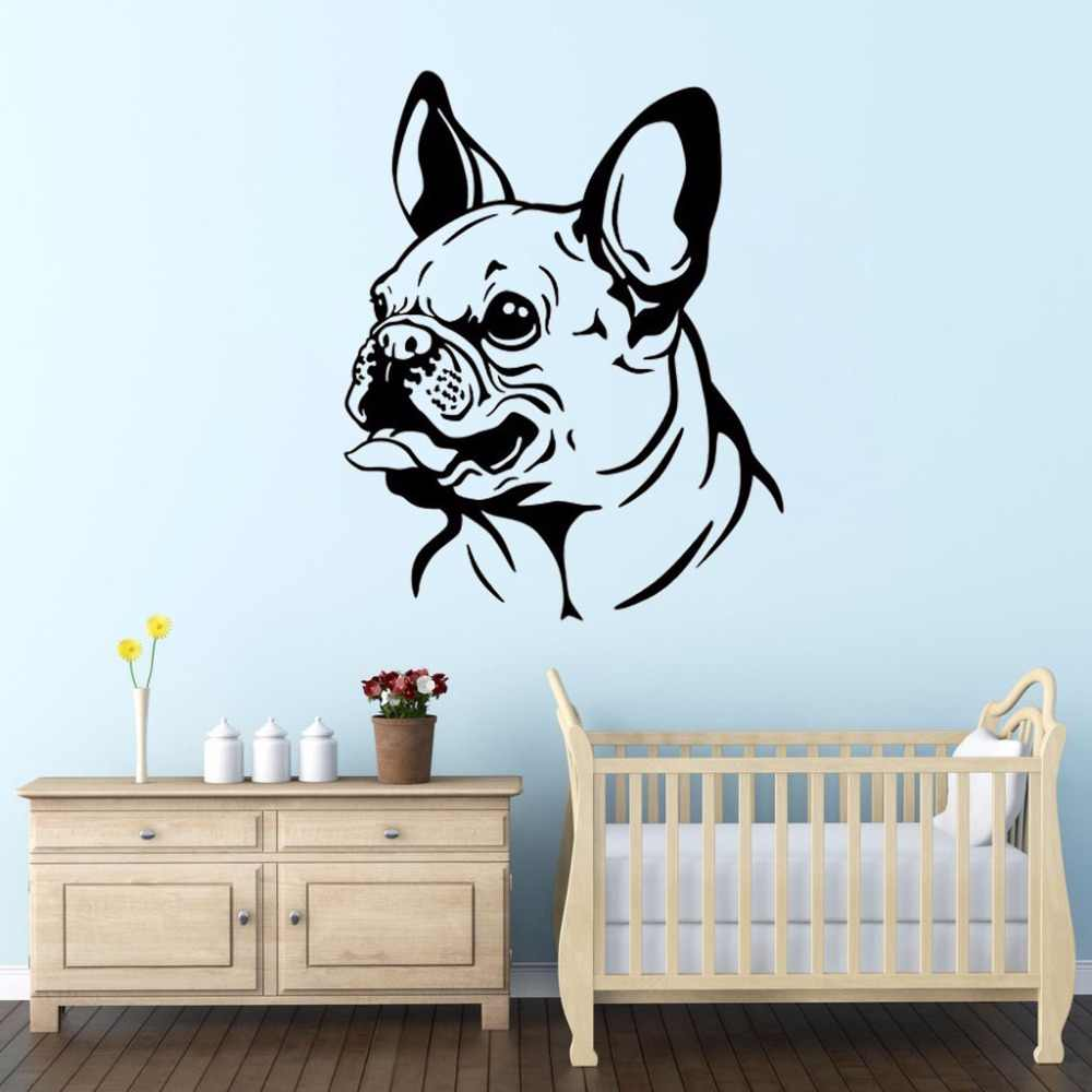 ZOOYOO French Bulldog Wall Decal Sticker Art Decor Bedroom Design Mural Cute Animal Wallpaper Kids Children Room Decoration