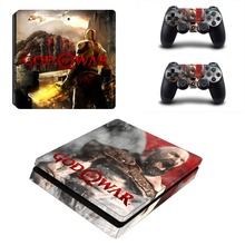 God of War 4 PS4 Slim Skin Sticker Decal For Dualshock PlayStation 4 Console and 2 Controllers PS4 Slim Skins Stickers Vinyl