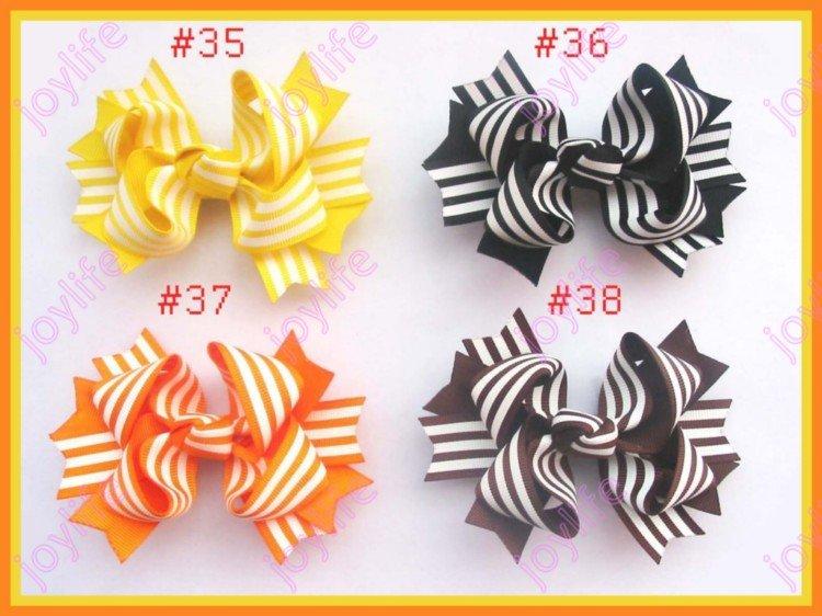 45 шт 3,5 ''двухцветные бутик бант волосы популярный женский бант для волос заколки для волос