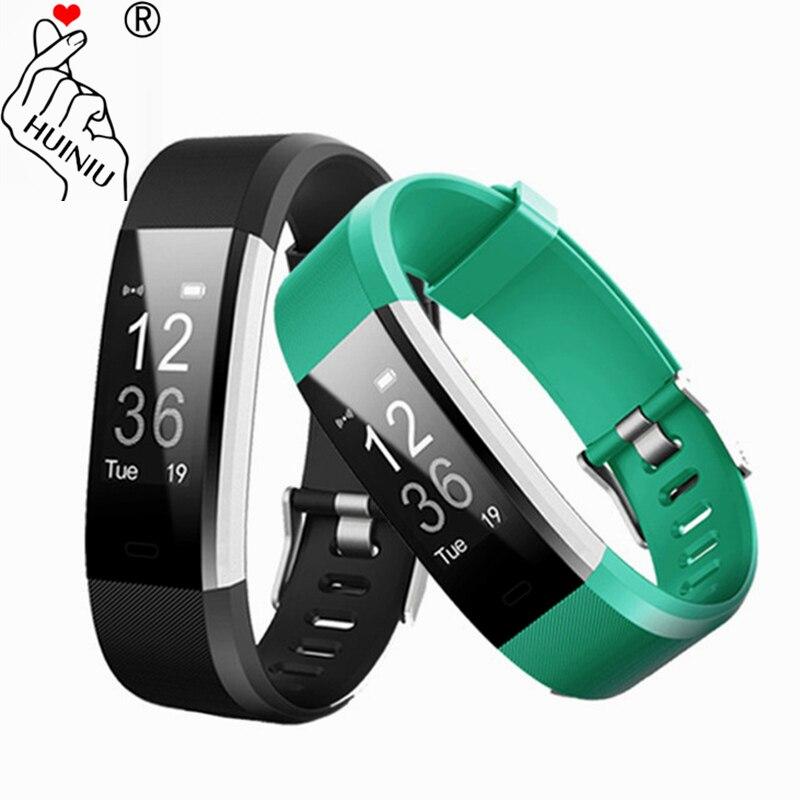 ID115 HR PLUS pulsera inteligente GPS Fitness Tracker Monitor de ritmo cardíaco contador del paso Control de cámara Wristband PK Fit Bit banda