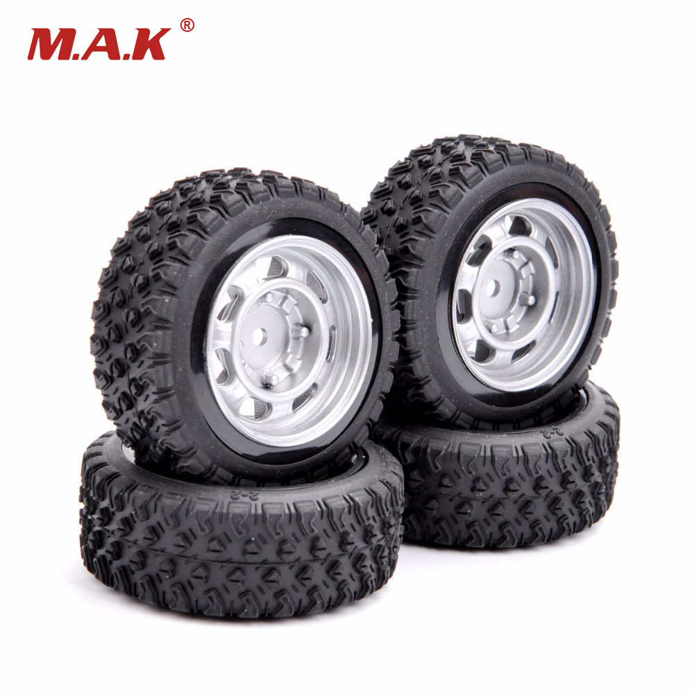 12mm Hex Rally Car Tires And Wheel Model Toys Accessory For 1/10 Rally Rubber RC Car Model Parts smart car model wearable rubber wheel