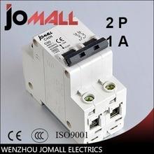 купить C45N 2 pole 1A/25A/32A/40A 400V~ D type mini circuit breaker mcb Mounting 35mm din rail Breaking Capacity 3KA  по цене 79.46 рублей