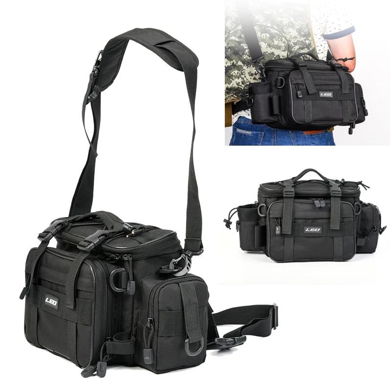 Fishing Tackle Waterproof Waist Bag Multi Function Shoulder Pack Reel Lure Bag